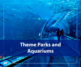 Theme parks and aquariums