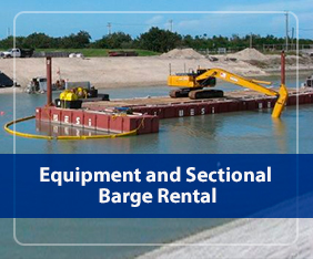 Equipment and Sectional Barge Rental