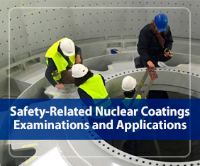 Safety related nuclear coatings examinations and applications
